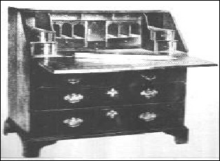 Captain Kidd's writing desk