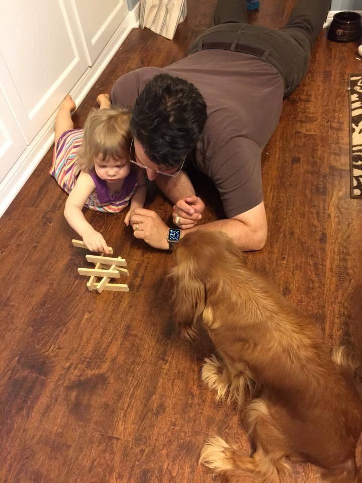 Ruby Cavalier King Charles Spaniel loves children